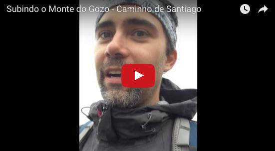 Subindo o Monte do Gozo – Caminho de Santiago
