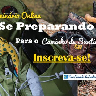 Novo Seminário Online: Como Se Preparar Para o Caminho de Santiago – 2 de Nov as 19hrs